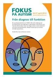 Programmet för Fokus på Autism (pdf-fil) - Webbhotell SLL