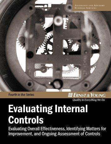 Evaluate Internal Control