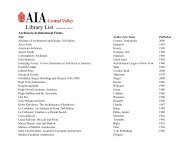Architects/Architectural Firms - AIA Central Valley