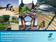 RunkoPES -järjestelmä - Centria tutkimus ja kehitys