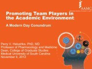 Promoting Team Players in the Academic Environment: - AAMC's ...