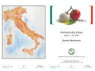 Authentic Menu_2010_Quattro_low - Italy-America Chamber of ...