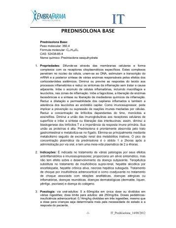PREDNISOLONA BASE - EMBRAFARMA