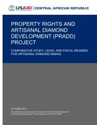 PRADD Comparative Study: Legal and Fiscal Regimes for Artisanal ...