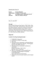 Referat fra centermøde 15.3.07 - Center for Boligforskning