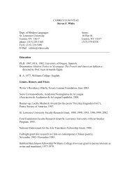 CURRICULUM VITAE Steven F. White - Information Technology