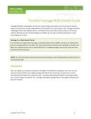 Tendril Vantage Web Portal Guide - NStar