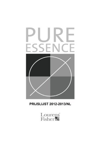 PRIJSLIJST 2012-2013/NL - Lourens-Fisher