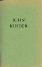 JOHN KINDER - Auckland Art Gallery