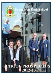 Prospectus 2012 to 2013 - Broughton Hall High School