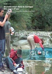 Bioindication dans le biotope des cours d'eau - Globe