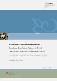 Minority Consultative Mechanisms in Kosovo ... - Aktion 302