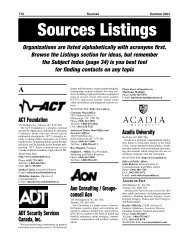Sources 54 - Listings A - B