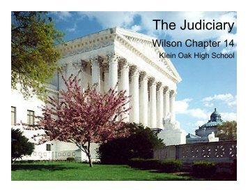 The Judiciary - Klein Oak.org