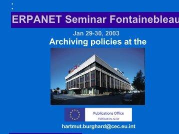 1. Statute and operational tasks - Erpanet