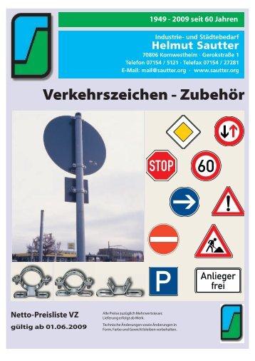 Verkehrszeichen - Zubehör - Industrie- und Städtebedarf Helmut ...