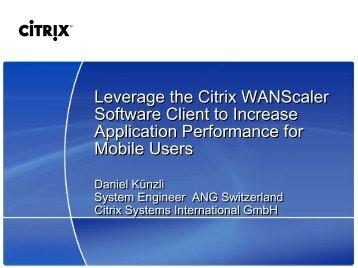 Citrix PowerPoint Master (Standard) April 2007 - Digicomp