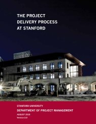 the project delivery process at stanford - Land, Buildings & Real ...