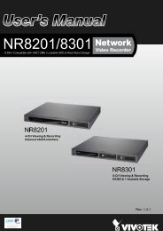 Vivotek NR8301 Network Video Recorder User Manual - Use-IP