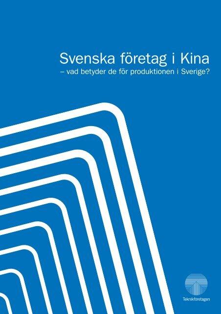 Svenska företag i Kina - Teknikföretagen