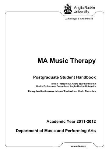 MA Music Therapy - My.Anglia Homepage - Anglia Ruskin University