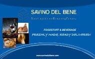 SDB Presentation for Food & Beverage - Savino Del Bene