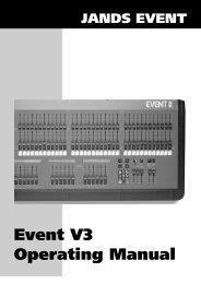 Event V3 Operating Manual - Jands