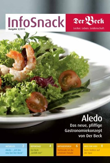 Das neue, pfiffige Gastronomie konzept von Der Beck