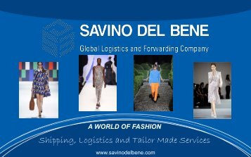 Shipping, Logistics and Tailor Made Services - Savino Del Bene