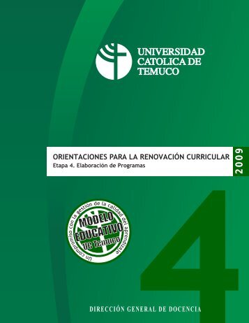 MODELO EDUCATIVO - Universidad Católica de Temuco
