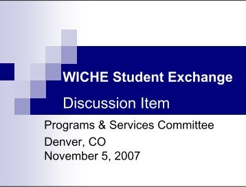 WICHE Student Exchange