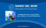 SDB Presentation for Pharmaceutical Products - Savino Del Bene