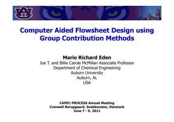 Computer Aided Flowsheet Design using Group ... - CAPEC