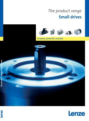 Catalogue The product range Small drives - Lenze