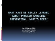What Have We Really Learned About Problem Gambling Prevention?