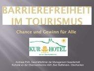 Barrierefreier Tourismus - Chance und Gewinn für Alle