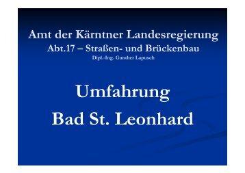 Umfahrung Bad St. Leonhard