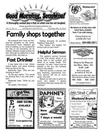 Family shops together - Good Morning Sunshine.ca