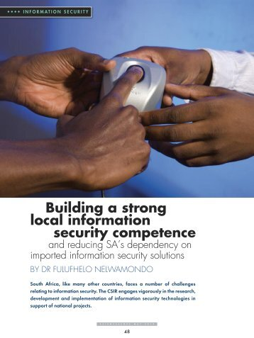 Building a strong local information security competence - CSIR