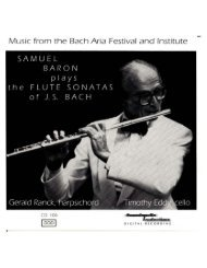 Music from the Bach Aria Festival and Institute