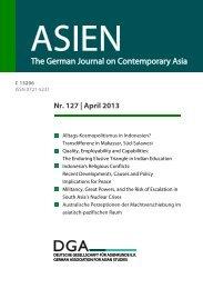 ASIEN, Nr. 127, April 2013, S. 133-148. - Martin Wagener