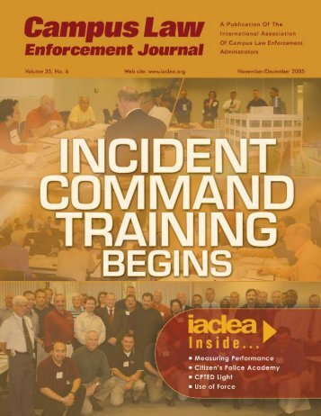 November/December 2005 Campus Law Enforcement ... - IACLEA