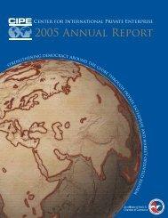 2005 Annual Report - Center for International Private Enterprise