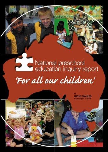 'For all our children' - Australian Education Union