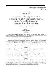Nr 295. Ustawa nr 78-17 z 6 stycznia 1978 r. w sprawie systemów ...
