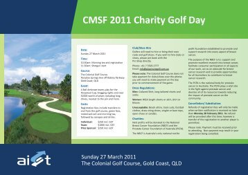 CMSF 2011 Charity Golf Day