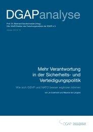 Europa und die NATO (PDF 198.08 kB) - Deutsche Gesellschaft für ...