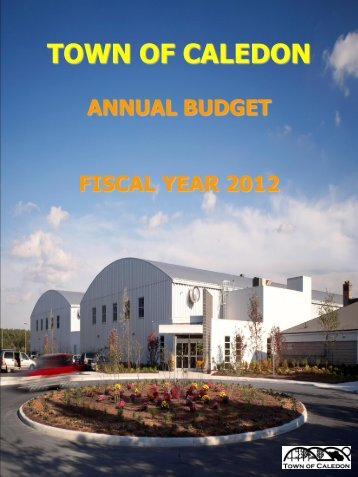 2012 Budget - Town of Caledon