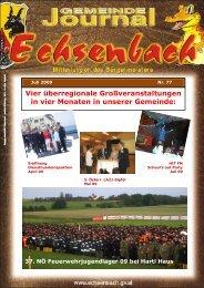 Gemeindejournal Nr. 77 Juli 2009 - Marktgemeinde Echsenbach