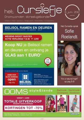 Sofie Roelandt Leeftijd - t Cursiefje